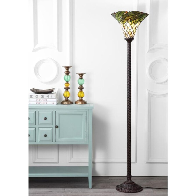 Jonathan Y Traditional 71 In Bronze Torchiere Floor Lamp In The Floor Lamps Department At Lowes Com