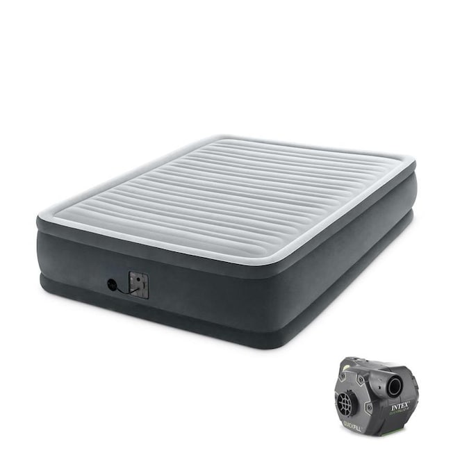 Intex Polyester Queen Air Mattress In The Air Mattresses Department At Lowes Com