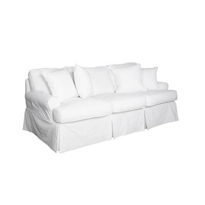 Warm White Cotton Sofa