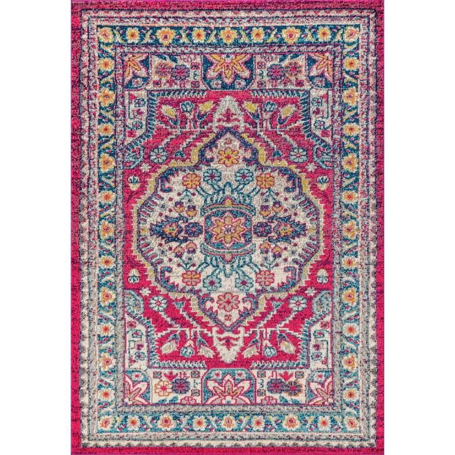 Jonathan Y Bohemian Flair 3 X 5 Pink Cream Indoor Medallion Area Rug In The Rugs Department At Lowes Com