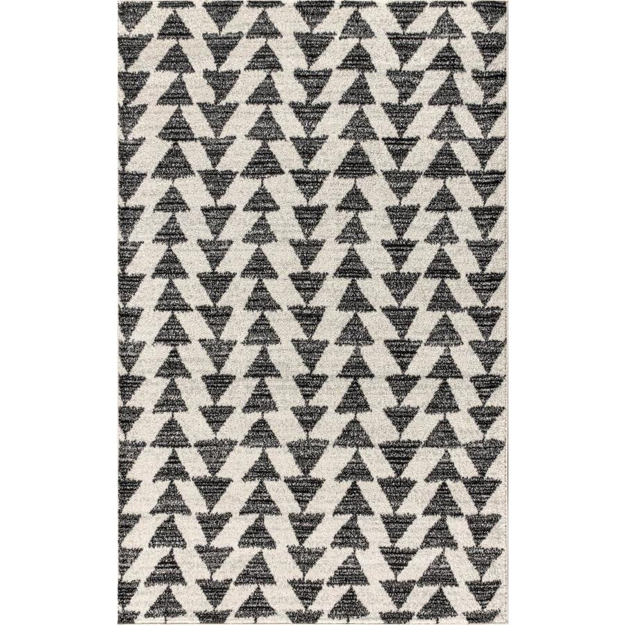 Jonathan Y Moroccan Hype 4 X 6 Cream Black Indoor Geometric Area Rug In The Rugs Department At Lowes Com