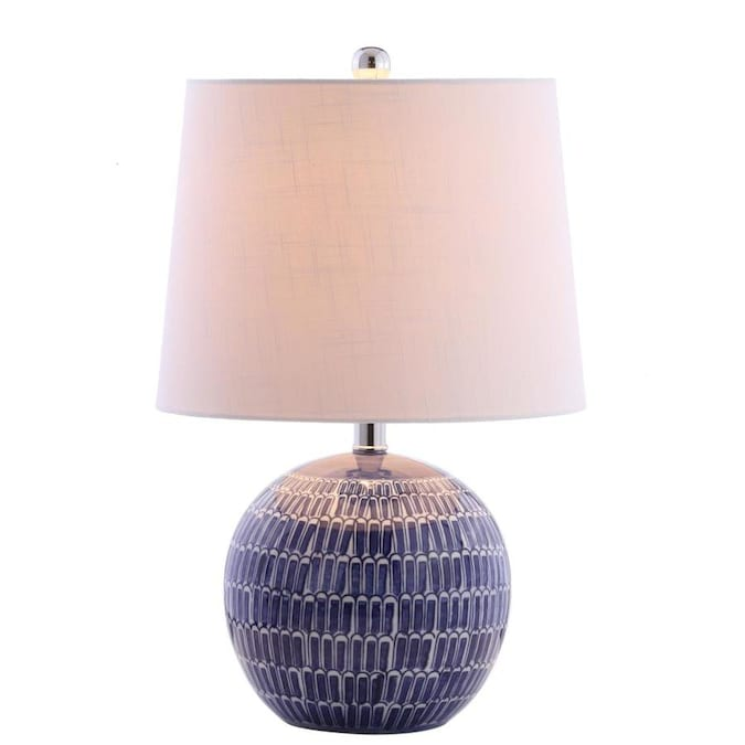 JONATHAN Y Ronald 21 In. Ceramic LED Table Lamp, Navy in ...