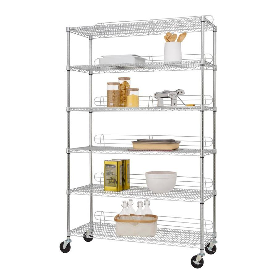 Trinity 18 In D X 48 In W X 77 In H 6 Tier Steel Utility Shelving Unit In The Freestanding Shelving Units Department At Lowes Com