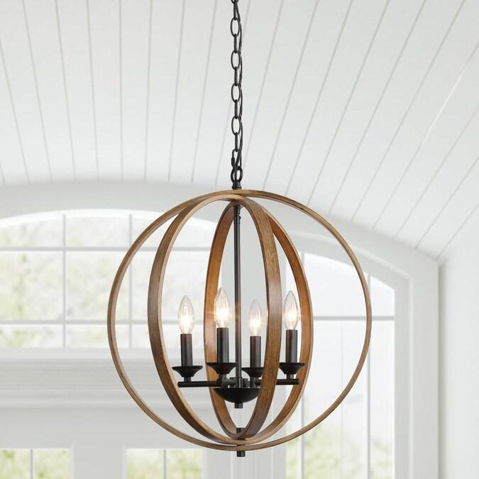 https www lowes com pd lnc chet ill brown farmhouse globe pendant light 1002370518