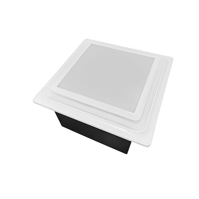 Aero Pure Low Profile Quiet Bathroom Exhaust Fans 0 7 Sone 110 Cfm White Bathroom Fan Energy Star In The Bathroom Fans Heaters Department At Lowes Com