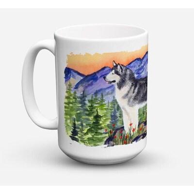 Caroline S Treasures Alaskan Malamute 15 Fl Oz Ceramic Mug In The Drinkware Department At Lowes Com