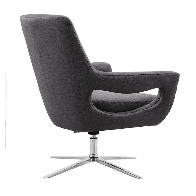 Armen Living Quinn Modern Gray Accent Chair In The Chairs Department At Lowes Com