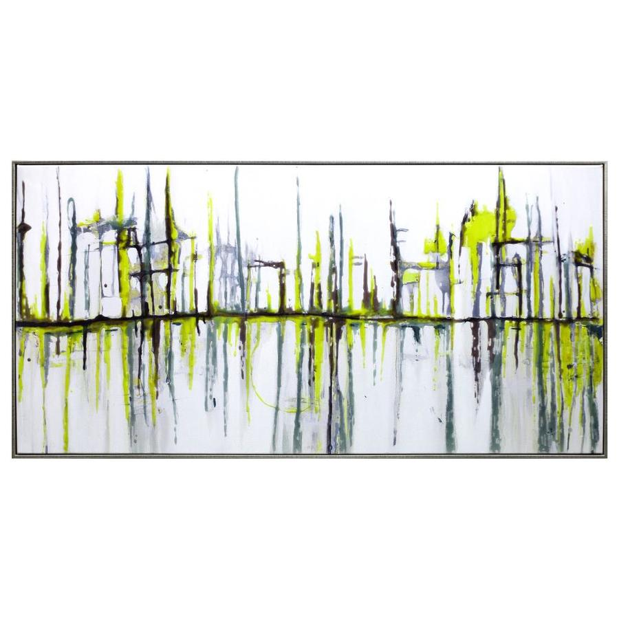 Yosemite Home Decor Acrylic Painting Frameless 24 In H X 48 In W Abstract Canvas Hand Painted Painting In The Wall Art Department At Lowes Com