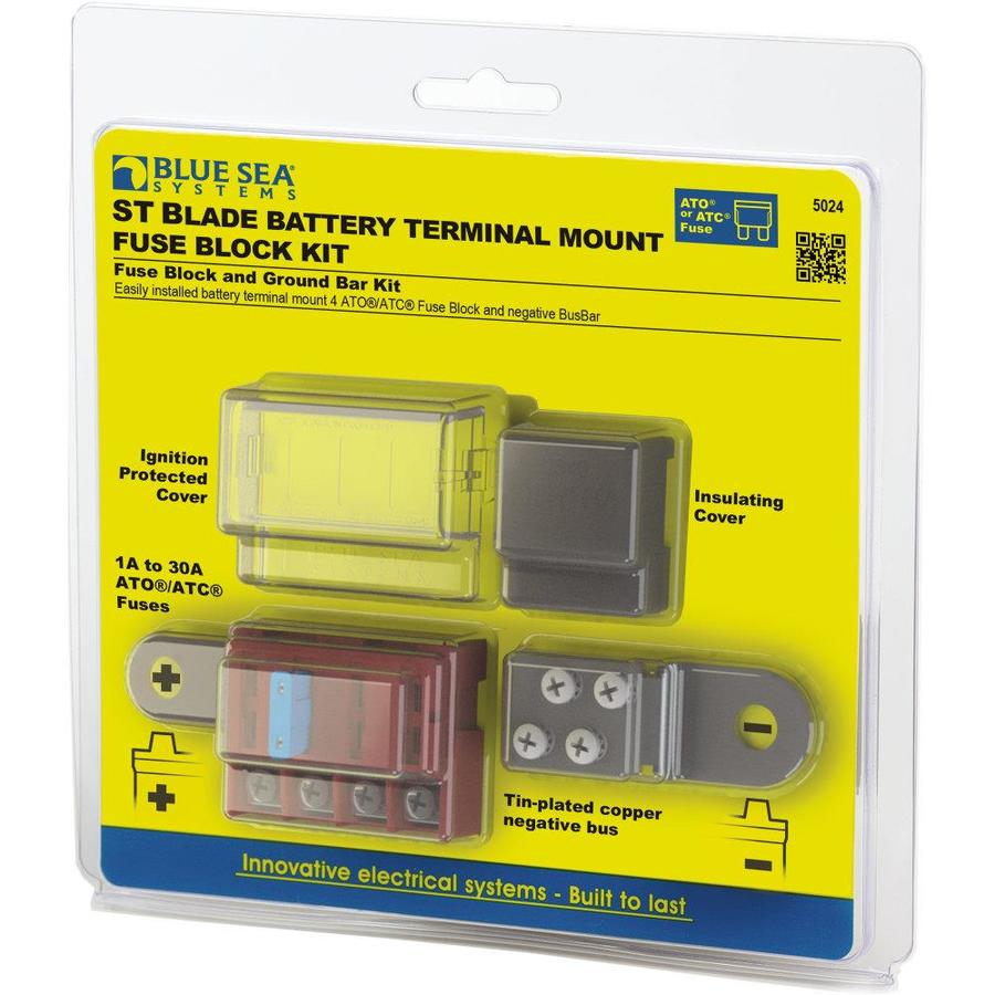 Blue Sea Systems St Blade Battery Terminal Mount Fuse Block Kit In The Rv Accessories Department At Lowes Com