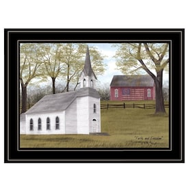 Trademark Fine Art Landscapes Framed 16 In H X 24 In W Landscape Canvas Print In The Wall Art Department At Lowes Com