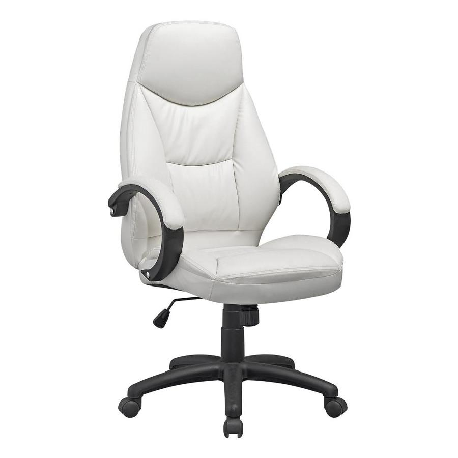 CorLiving Workspace White Contemporary Adjustable Height Swivel Executive  Chair