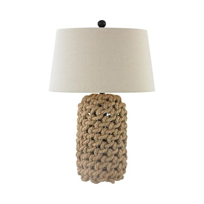 Elk Home 11 In Nature Rope 3 Way Table Lamp With Fabric Shade In The Table Lamps Department At Lowes Com