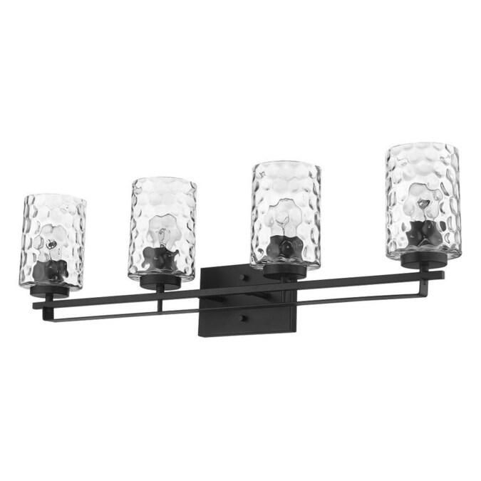 Acclaim Lighting Livvy 4 Light Black Transitional Vanity Light In The Vanity Lights Department At Lowes Com