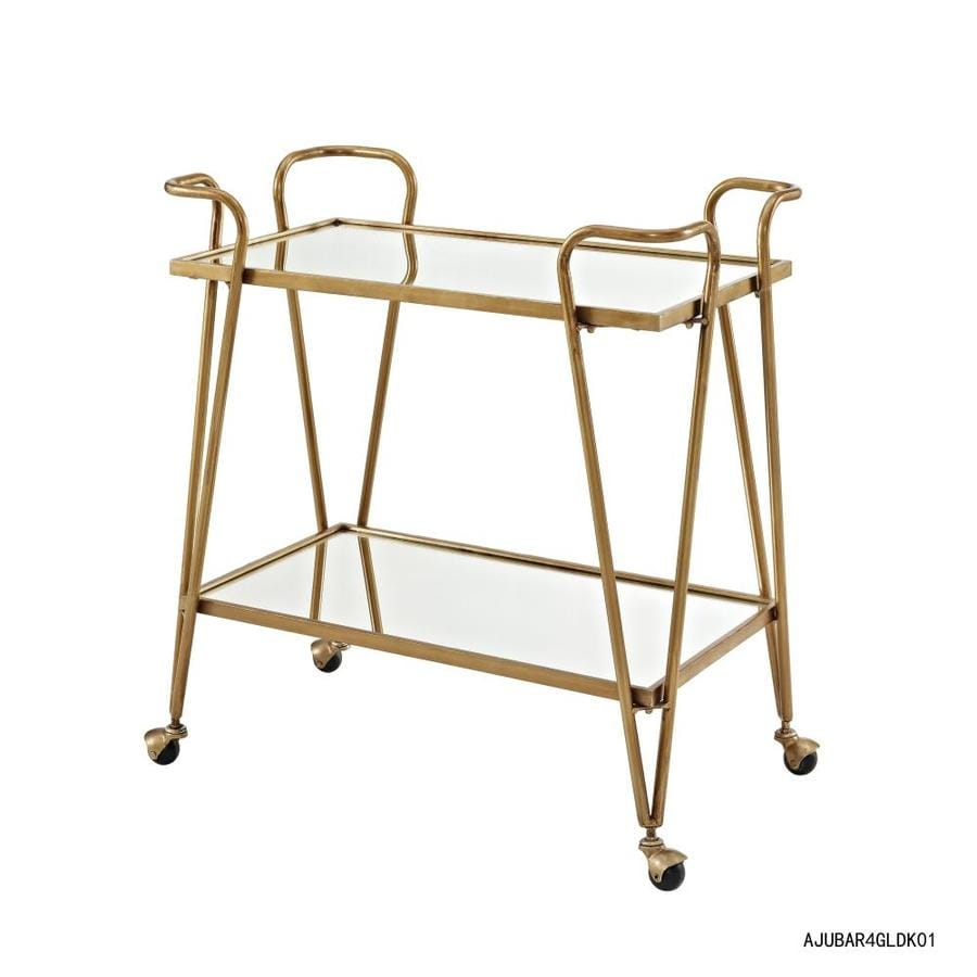 Linon Gold Metal Base With Wrought Iron