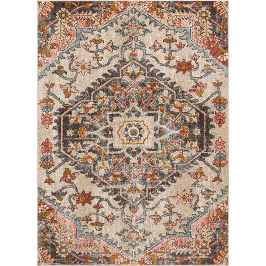 Well Woven Mystic 8 X 11 Blush Indoor Floral Botanical Bohemian Eclectic Area Rug In The Rugs Department At Lowes Com