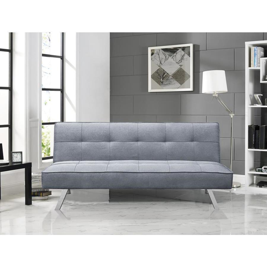Serta Light Grey Polyester Sofa Bed In