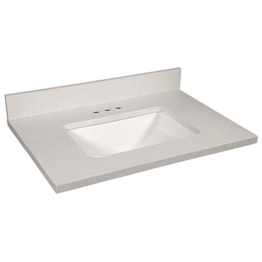 Design House 31 In Snowdrift Quartz Single Sink Bathroom Vanity Top In The Bathroom Vanity Tops Department At Lowes Com