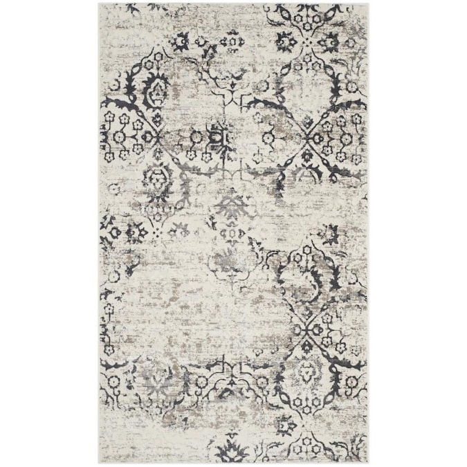 Safavieh Artifact Emilia 3 X 5 Charcoal Cream Abstract Bohemian Eclectic Throw Rug In The Rugs Department At Lowes Com