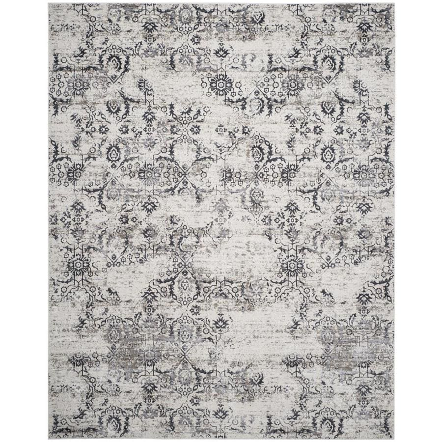 Safavieh Artifact Emilia 9 X 12 Charcoal Cream Abstract Bohemian Eclectic Area Rug In The Rugs Department At Lowes Com