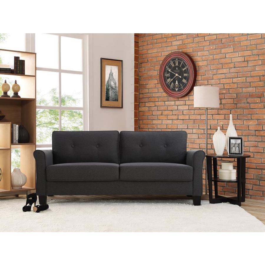 Lifestyle Solutions Harrison Sofa Upholstered Fabric Rolled Arms Heather Grey In The Living Room Sets Department At Lowes Com