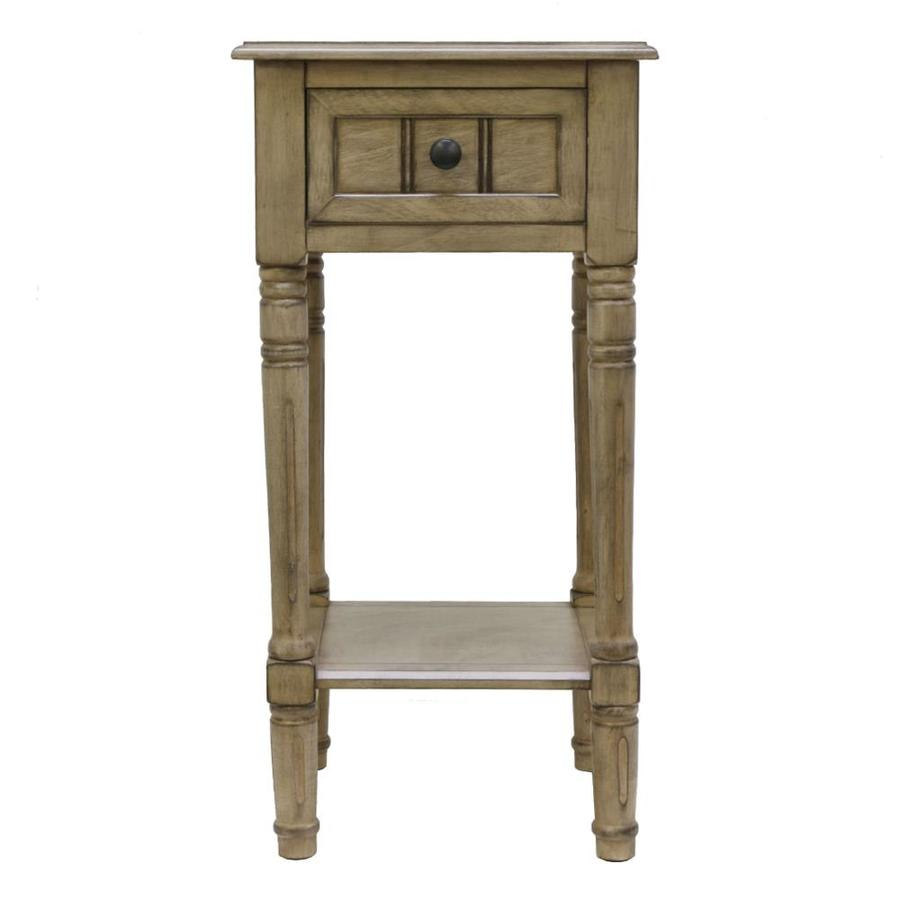 D/écor Therapy FR1572 Simplify End Table Green Décor Therapy