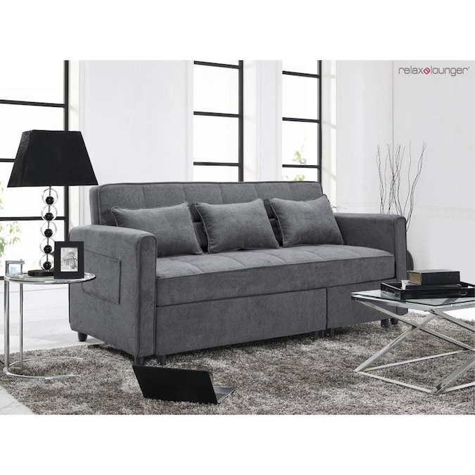 Relax A Lounger Sidney 3 Seat King Convertible Sofa With Upholstered Fabric And Eucalyptus Wood