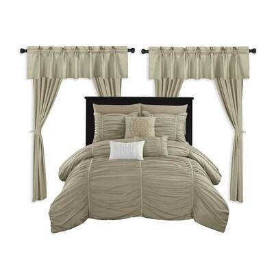 Beige King 20pc Comforter Set At Lowes Com