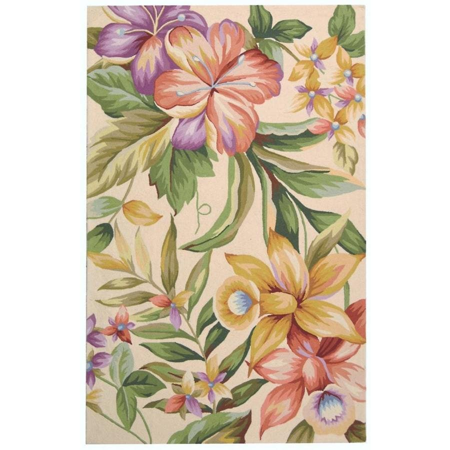 Safavieh Chelsea Orchard 6 X 9 Ivory Multicolor Indoor Floral Botanical Handcrafted Area Rug In The Rugs Department At Lowes Com