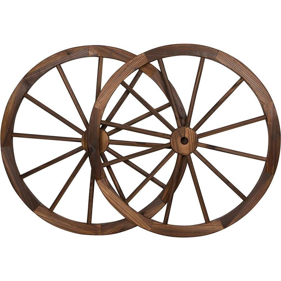 Backyard Expressions Backyard Expressions 30 In Wagon Wheels Brown 2 Pack In The Decorative Accessories Department At Lowes Com