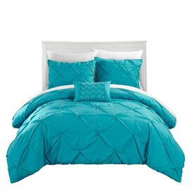 Geneva Home Fashion Venice 7 Piece Teal King Comforter Set In The Bedding Sets Department At Lowes Com