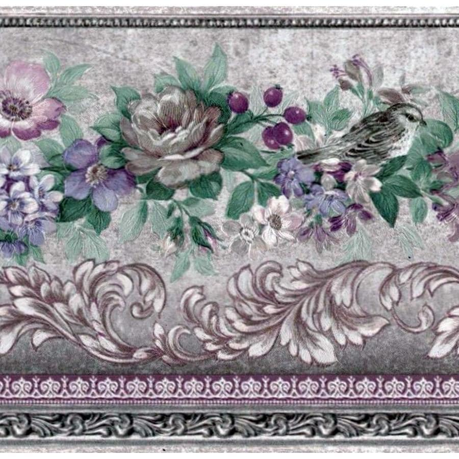 WALLPAPER BORDER ARCHITECTURAL FLORAL SCROLLS MOULDING FLOWERS NEW ARRIVAL