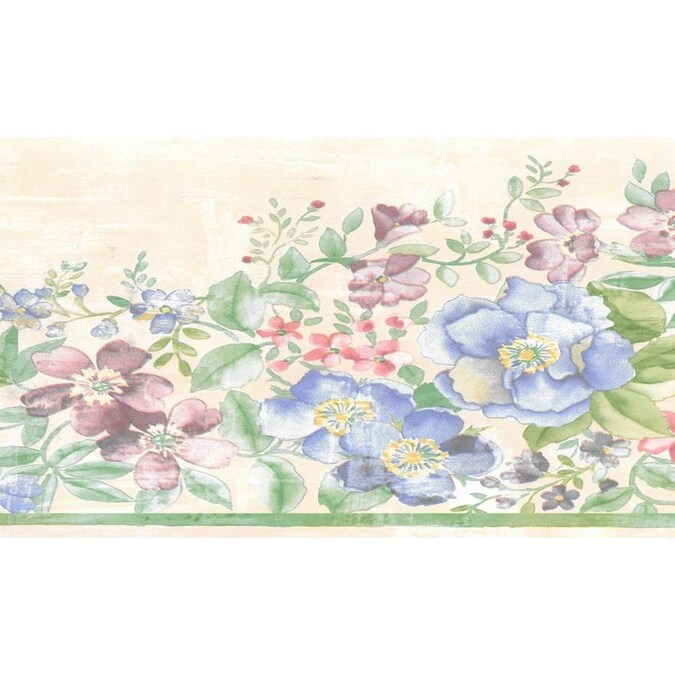 Dundee Deco 7-in Floral Green, Pink, Beige, Blue Flowers ...