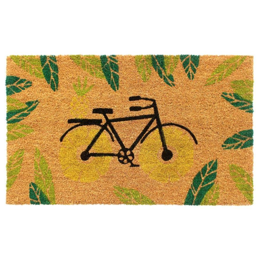Zig Zag Bicycle Coir Doormat 1 1 2 X 2 1 2 Green Indoor Outdoor Area Rug In The Rugs Department At Lowes Com