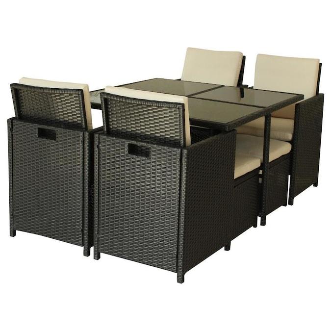 Luxury Living Furniture Amalfi 9-Piece Brown Frame Bar ... on Fine Living Patio Set id=46653