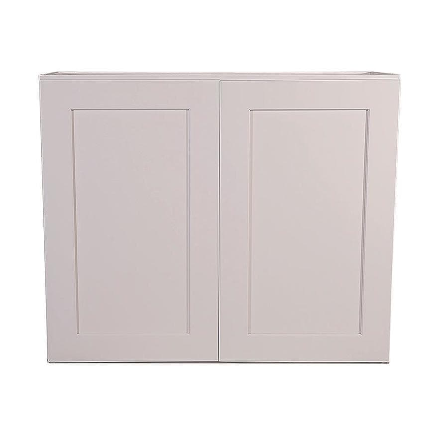 Design House Brookings Ready To Assemble 36 X 24 X 12 In Wall Cabinet Style 2 Door In White In The Semi Custom Kitchen Cabinets Department At Lowes Com