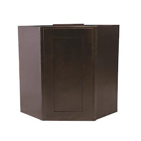 Design House Brookings Fully Assembled 30x36x12 In Shaker Style Kitchen Wall Cabinet 2 Door In Espresso In The Semi Custom Kitchen Cabinets Department At Lowes Com