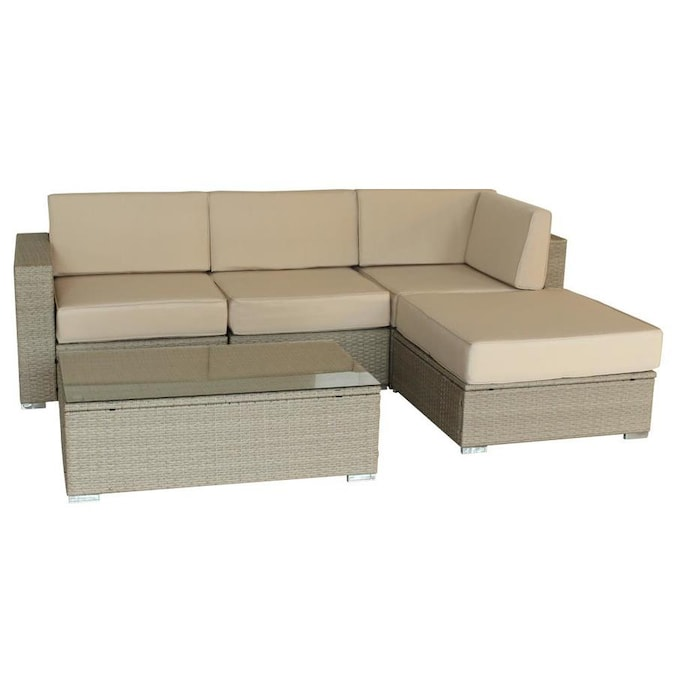 luxury living furniture milian 5piece metal frame patio