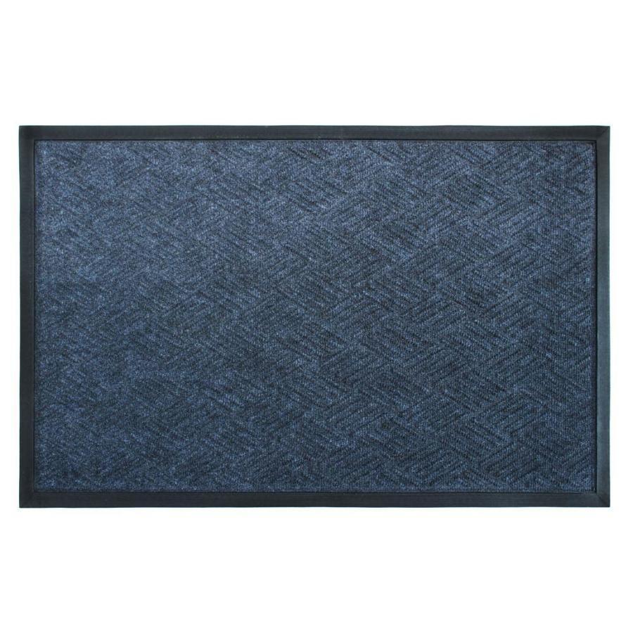 Zig Zag Cobalt Rubber Poly Doormat 2 X