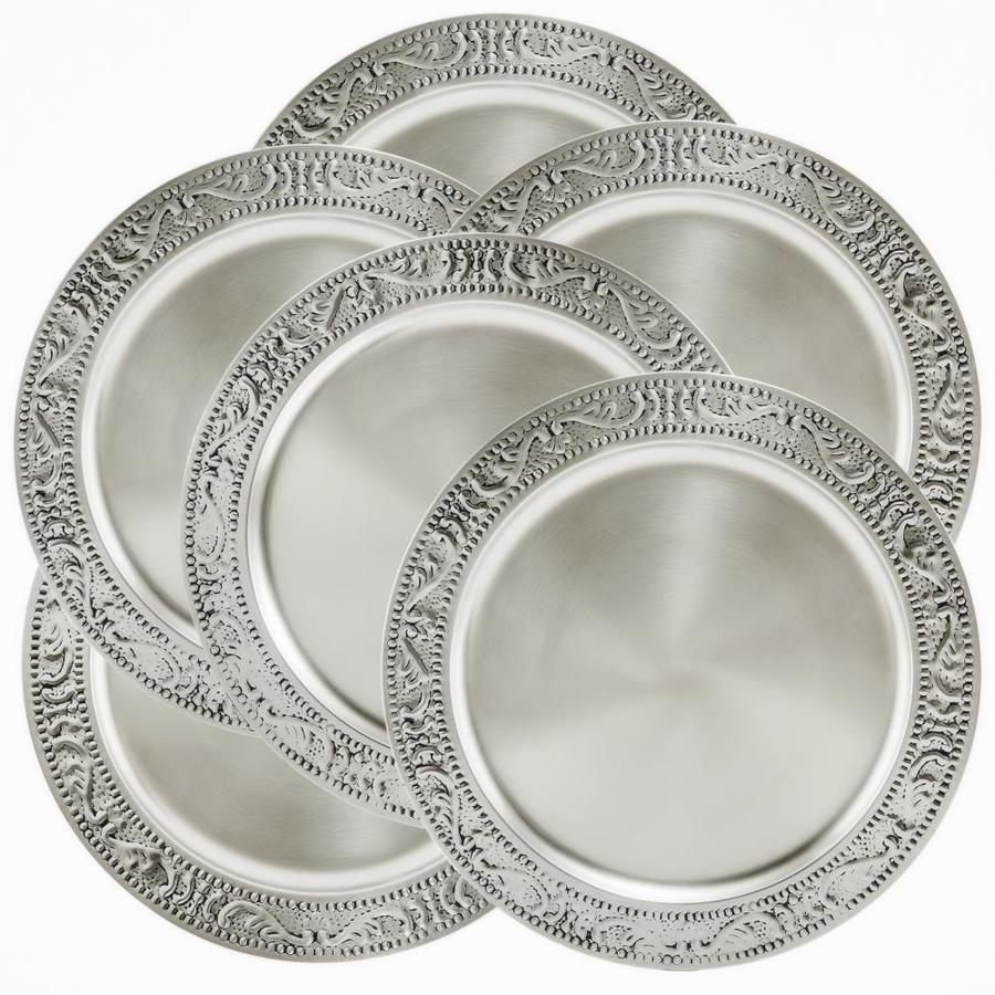 Old Dutch 13 In Antique Embossed Victoria Charger Plates Set Of 6 In The Serveware Department At Lowes Com