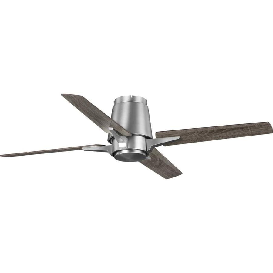 Progress Lighting Lindale Antique Nickel 52 In Indoor Flush Mount Ceiling Fan 4 Blade In The Ceiling Fans Department At Lowes Com