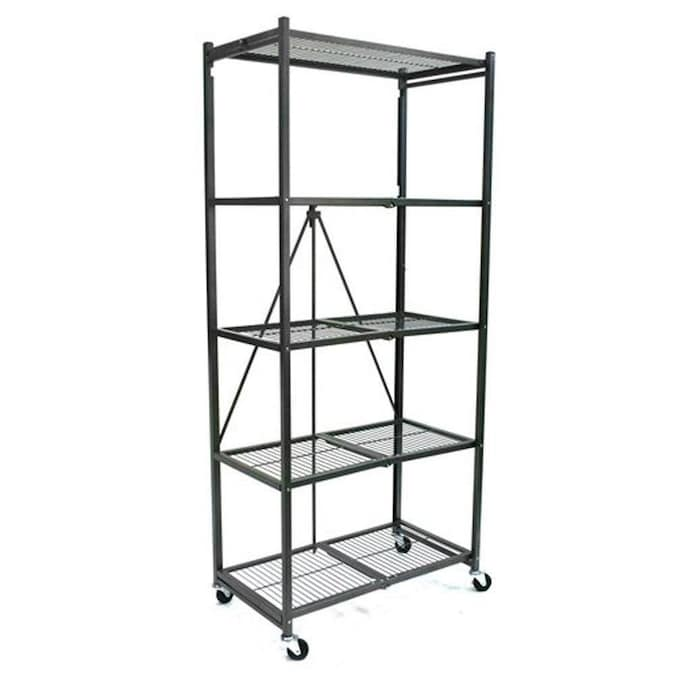 Folding Shelf Unit Origami Storage Rack Portable Metal Shelving  Organization New | eBay | 675x675