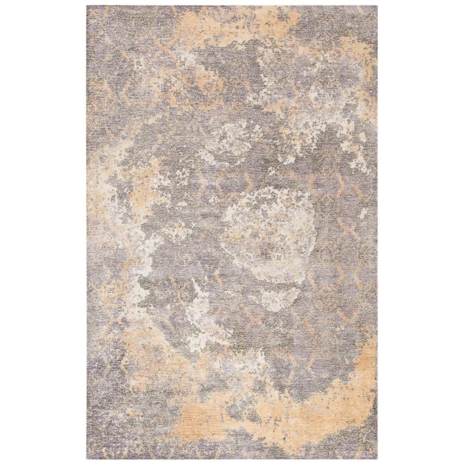 Safavieh Restoration Vintage Denel 4 X 6 Gold Ivory Indoor Abstract Vintage Handcrafted Area Rug In The Rugs Department At Lowes Com
