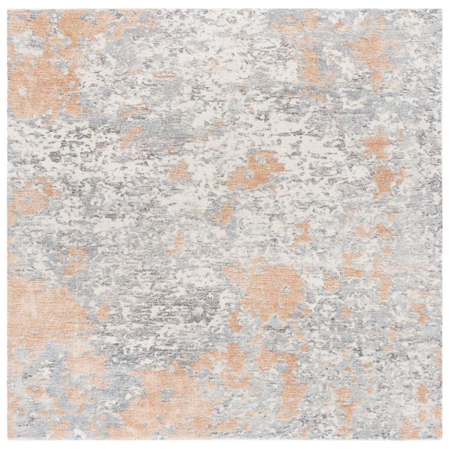 Safavieh Restoration Vintage Betsan 6 X 6 Rust Gray Square Indoor Abstract Vintage Handcrafted Area Rug In The Rugs Department At Lowes Com
