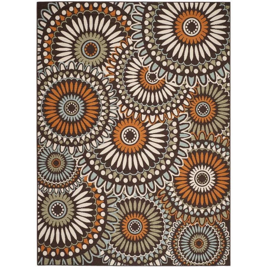 Safavieh Veranda Sissy 9 X 12 Chocolate Terracotta Indoor Outdoor Floral Botanical Bohemian Eclectic Area Rug In The Rugs Department At Lowes Com