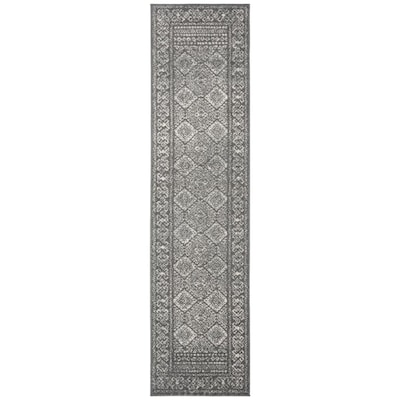 Safavieh Tulum Virden 2 X 9 Dark Gray Ivory Indoor Abstract Bohemian Eclectic Runner In The Rugs Department At Lowes Com