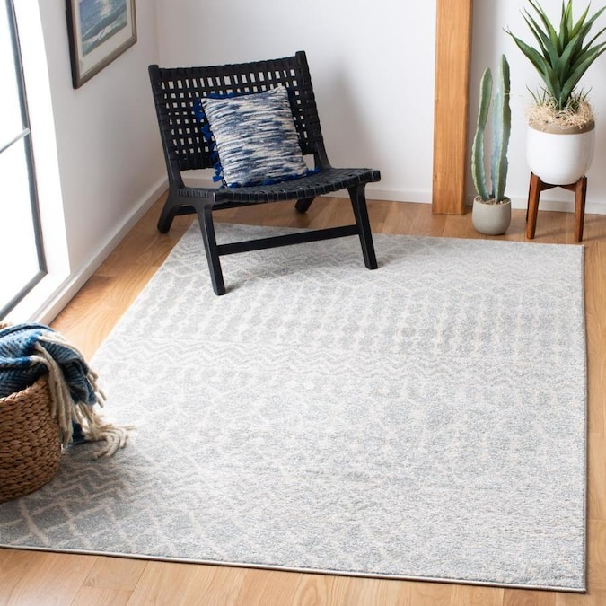 Safavieh Tulum Colfax 6 X 9 Light Gray Ivory Indoor Distressed Overdyed Bohemian Eclectic Area Rug In The Rugs Department At Lowes Com