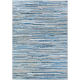 Homeroots Bernadette 2 X 3 Blue Indoor Stripe Handcrafted Area Rug In The Rugs Department At Lowes Com
