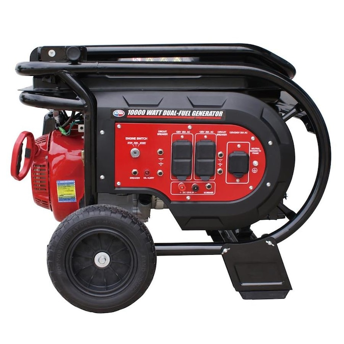 All Power 8000 Watt Gasoline Propane Portable Generator With Oem Engine In The Portable Generators Department At Lowes Com