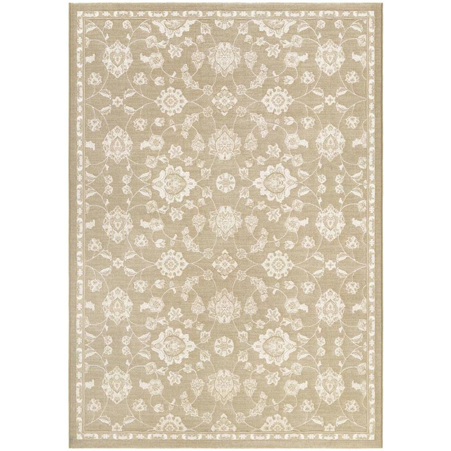 Couristan Marina 9 X 12 Champagne Indoor Floral Botanical Area Rug In The Rugs Department At Lowes Com