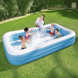 Summer Waves Wading Pool 45 In L X 45 In W Blue Plastic Round Kiddie Pool In The Kiddie Pools Department At Lowes Com